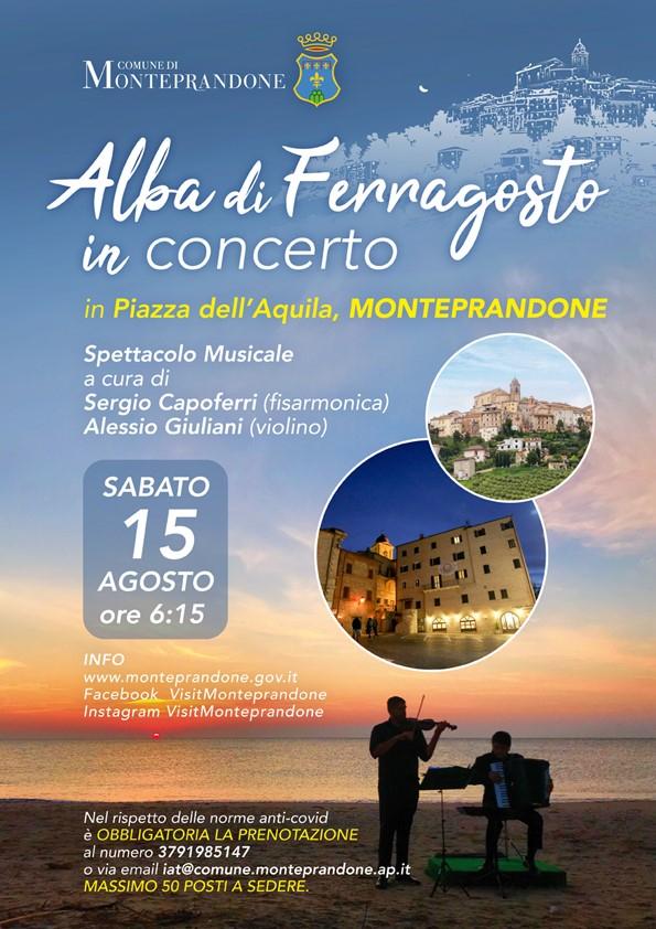 Alba di Ferragosto con un concerto evento