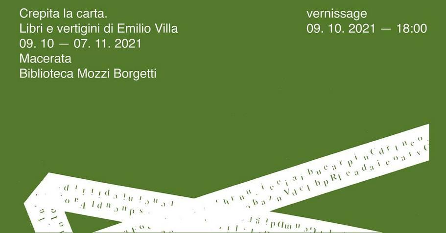 Crepita la carta. Libri e vertigini di Emilio Villa