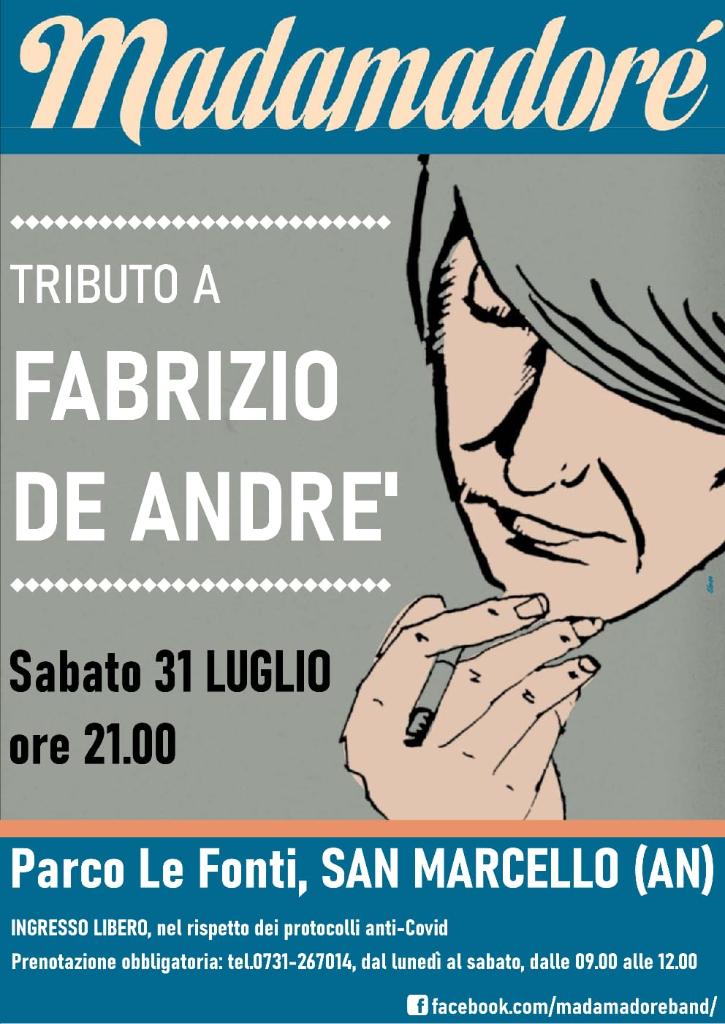 Madamadorè in Concerto - Tributo a Fabrizio de André