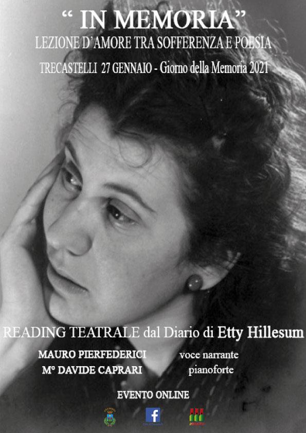 Reading teatrale dedicato a Etty Hillesum