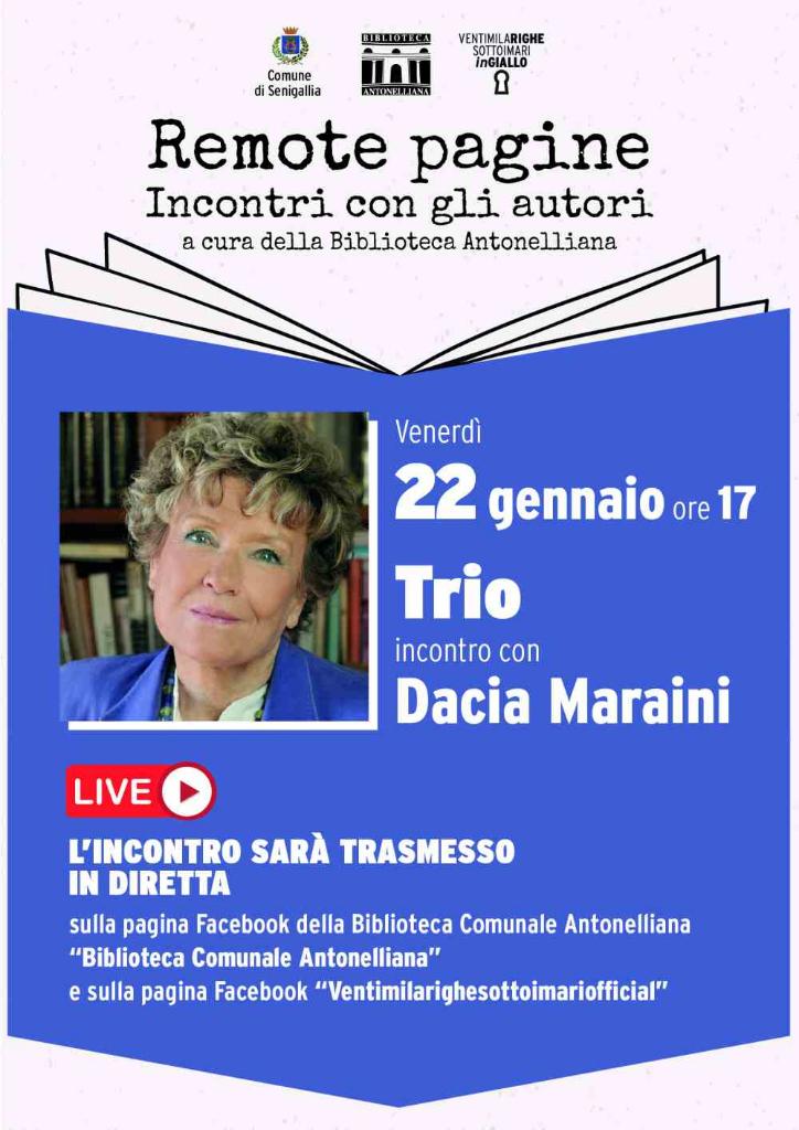 """""""Remote pagine"""", incontro con Dacia Maraini"""