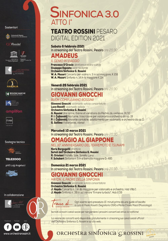 Sinfonica 3.0 tra novità e grandi artisti