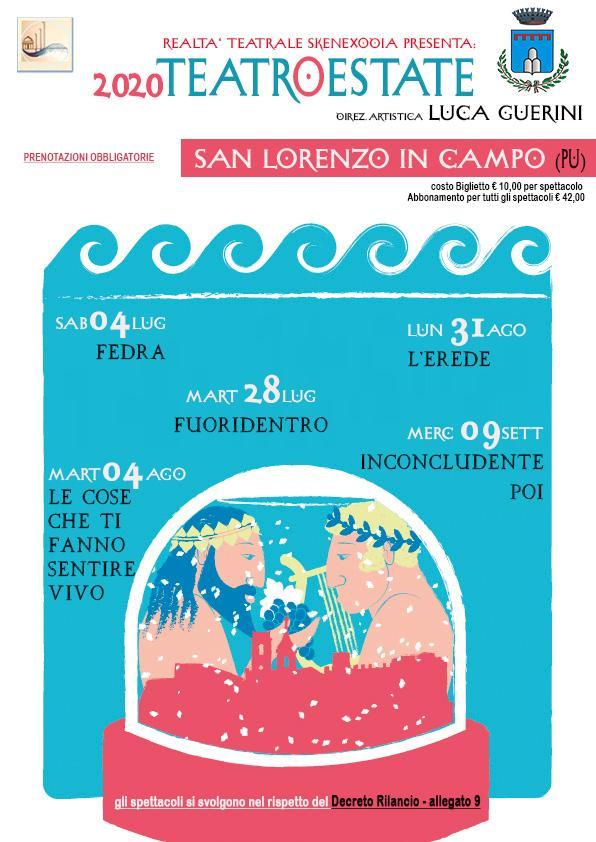 Stagione teatrale estiva a San Lorenzo in Campo